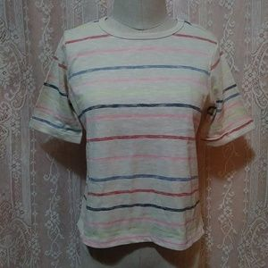Anthropologie Post Mark semi cropped stripped top
